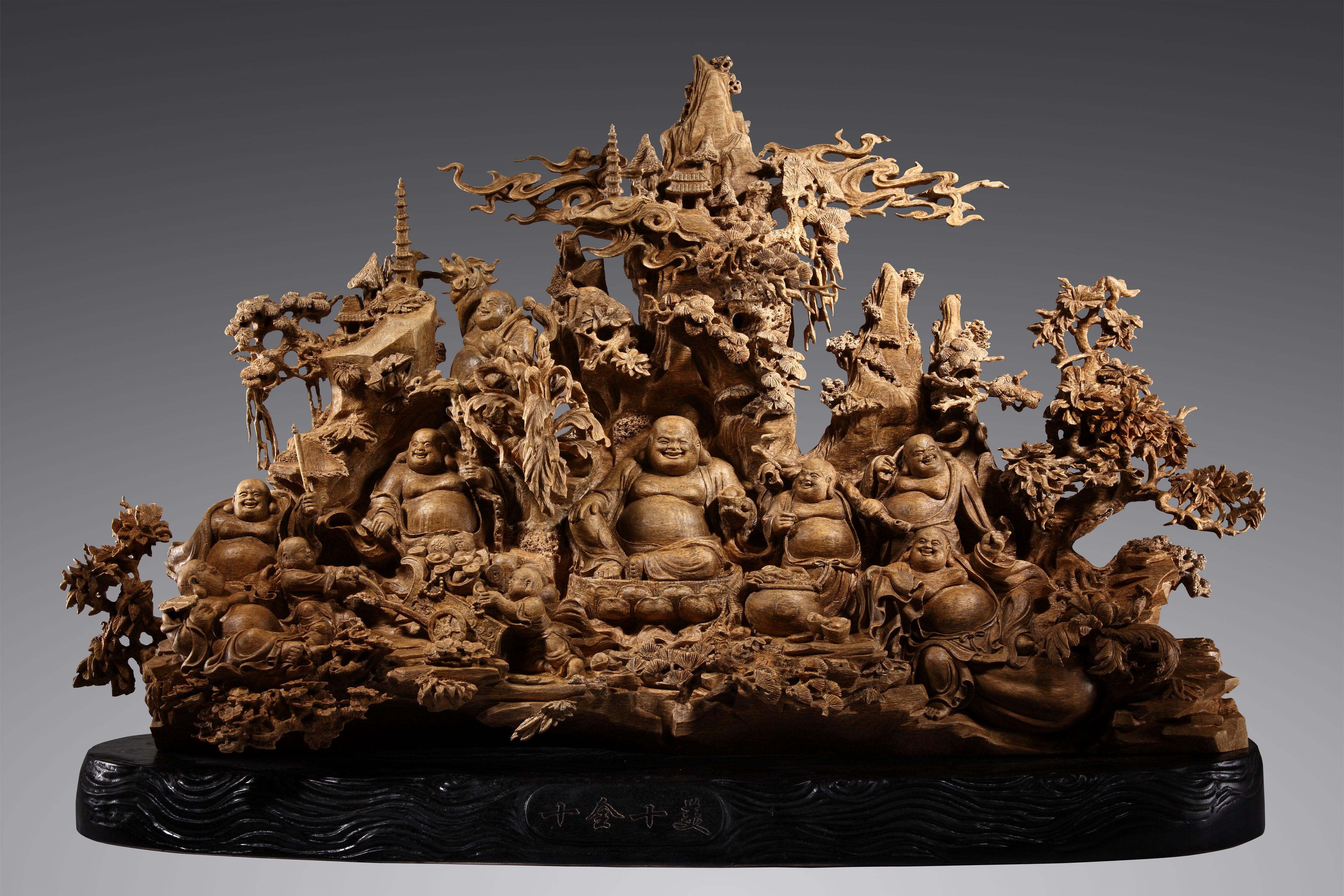 沉香木雕「十全十美」agarwood